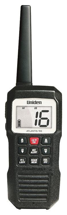 Uniden Atlantis 155NZ, 3 Watt VHF Handheld Radio, W/Proof, Floating, Single