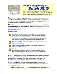 Dutch Hill fact sheet, v 2020 thumbnail.