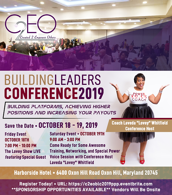 Building Leaders Conference 2019 Flyer 2