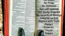 1st Corinthians 13: 4-8