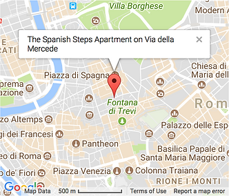 A map showing where the apartment is located.