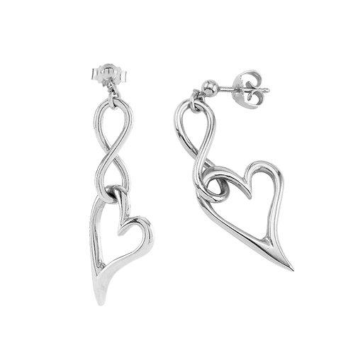 InfiniteLoove Earrings Sterling Silver