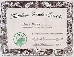 Certificat I kambo Danmark I Katukina