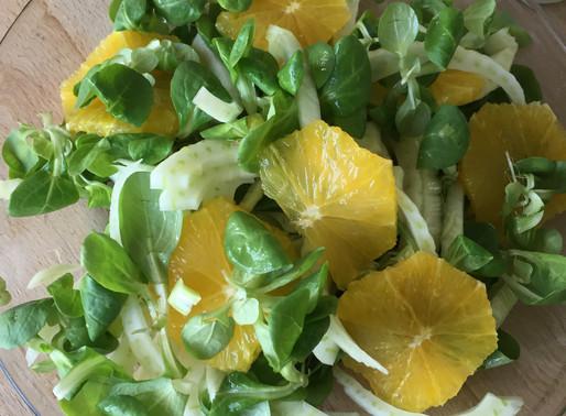 Fennikel og appelsin salat