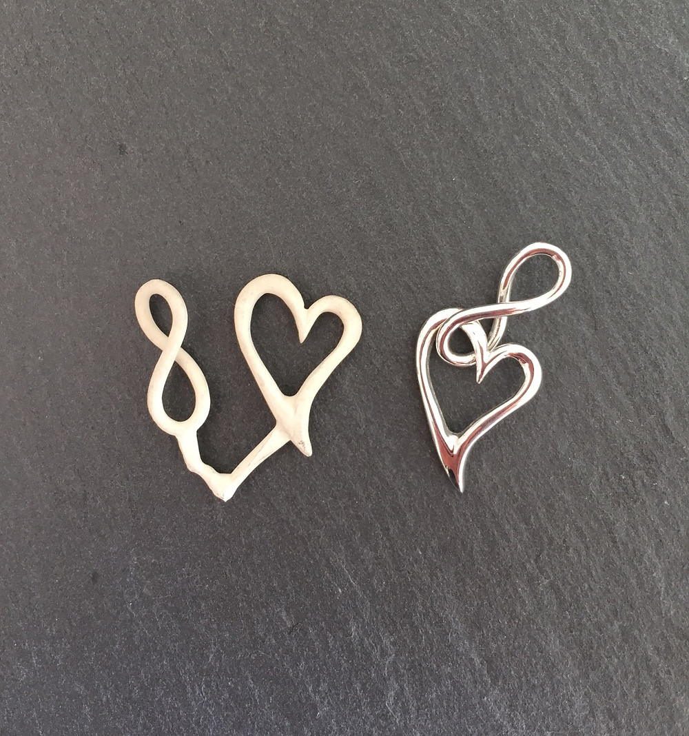 InfiniteLoove sterling silver before & after goldsmith hand