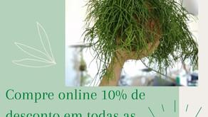 Aproveite 10% de desconto em todos os artigos FIU Jardins Suspensos!
