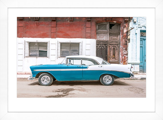 Cuban Car Blue & White