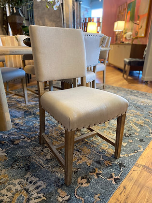Arthur Fabric Chair Brushed Smoke Legs