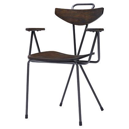 Wagner KD Metal Arm Chair Walnut