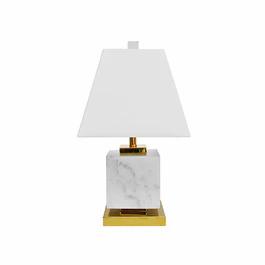 WORLD AWAY FRAISER BRWM SQUARE TABLE LAMP WHITE