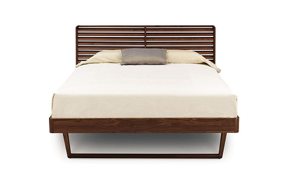 Contour Bed Without Shelf Nightstands in Walnut