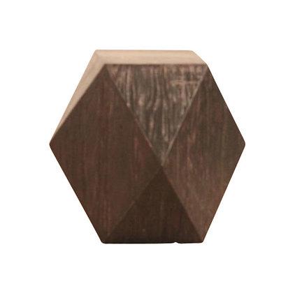 Brushed Black Elm Lamp Table