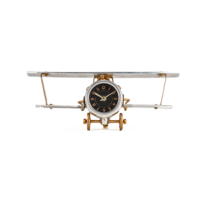 Biplane Table Clock