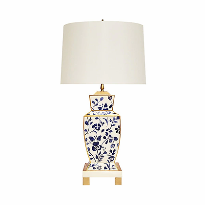 WORLD AWAY BIANCA VINE HAND PAINTED TOLE TABLE LAMP