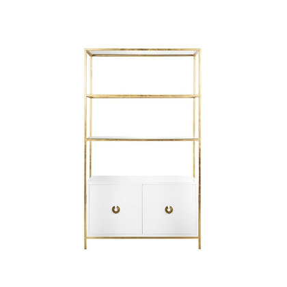Wyeth white Lacquer Gold Leaf Etagere