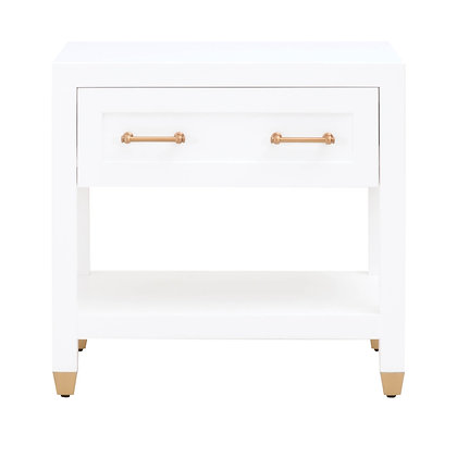 STELLA 1-DRAWER NIGHTSTAND    Matte White