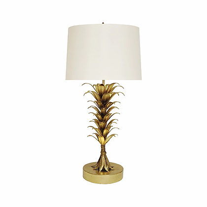 WORLD AWAY CAPRI G PALM LEAF TALBE LAMP
