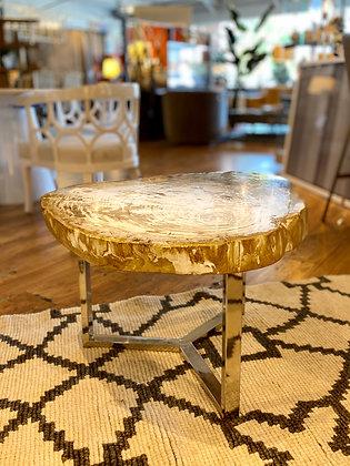 Devin Petrified Wood Coffee Table