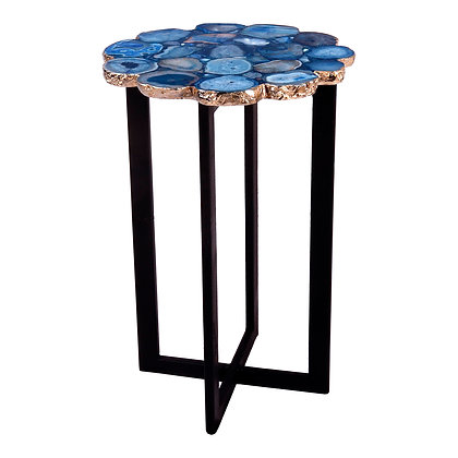 AZUL AGATE ACCENT TABLE