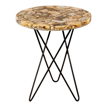 NATURAL AGATE ACCENT TABLE