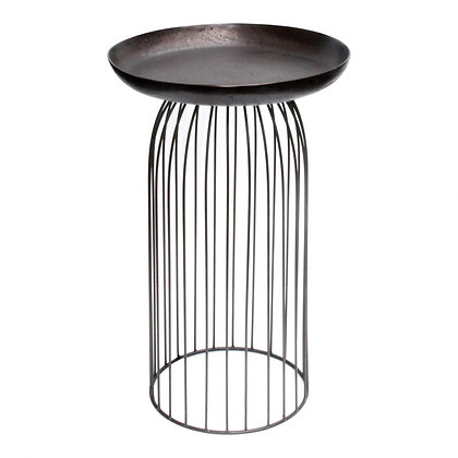 AVIARY ACCENT TABLE LARGE DARK BRONZ