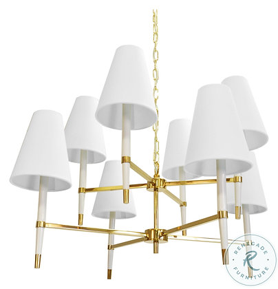 WORLD AWAY HINES BRWH 2 TIER CHANDELIER