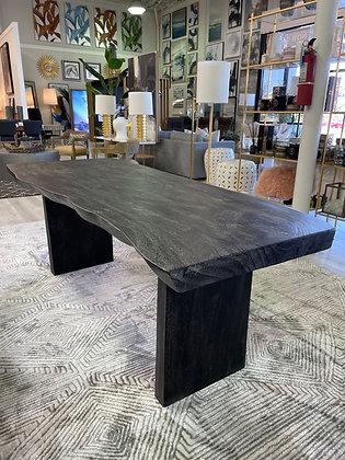 Black Live Edge Dining Table