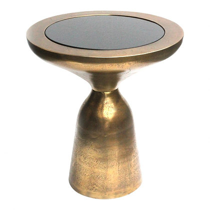 ORACLE ACCENT TABLE LARGE ANTIQUE BRASS