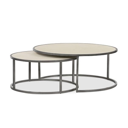 Shagreen Nesting Table