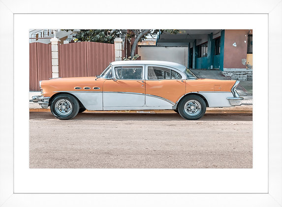Cuban Car Orange & White * In Stock*