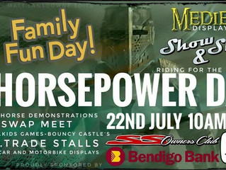 Horsepower Day 2017 22nd July  10am-3pm