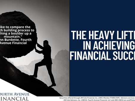 Financial Success Requires Some Heavy Lifting