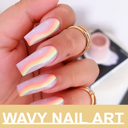 Online Exclusive Content | Wavy Nail Art | Hand Painted