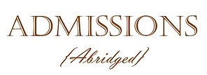 Admissions Abridged Logo