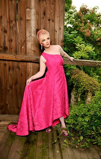 Doreen Taylor poses within Oscar Hammerstein II's threatened barn