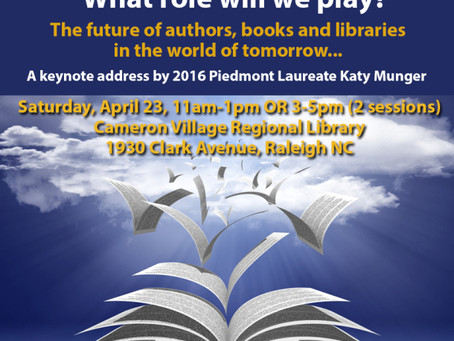 Join Me on April 23rd in Raleigh