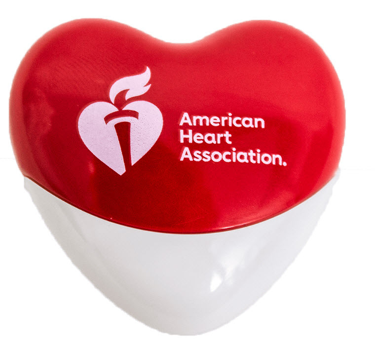 Red and white American Heart Association Heart