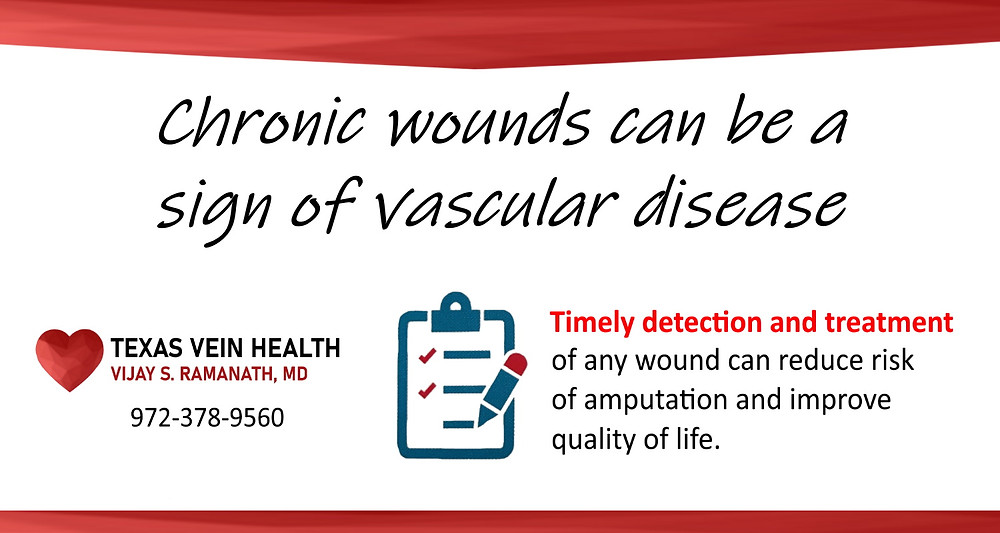 chronic wounds can be a sign of vascular disease
