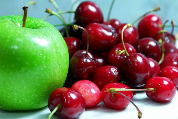 apple and cherries