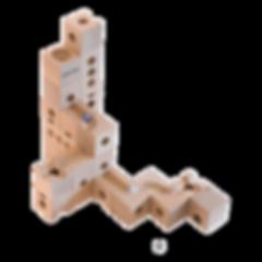 Qubidoo - развивающий деревянный конструктор из натурального бука, настольная игра кубиду.