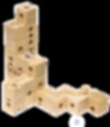 Qubidoo - развивающий деревянный конструктор Кубиду из натурального бука, настольная игра.