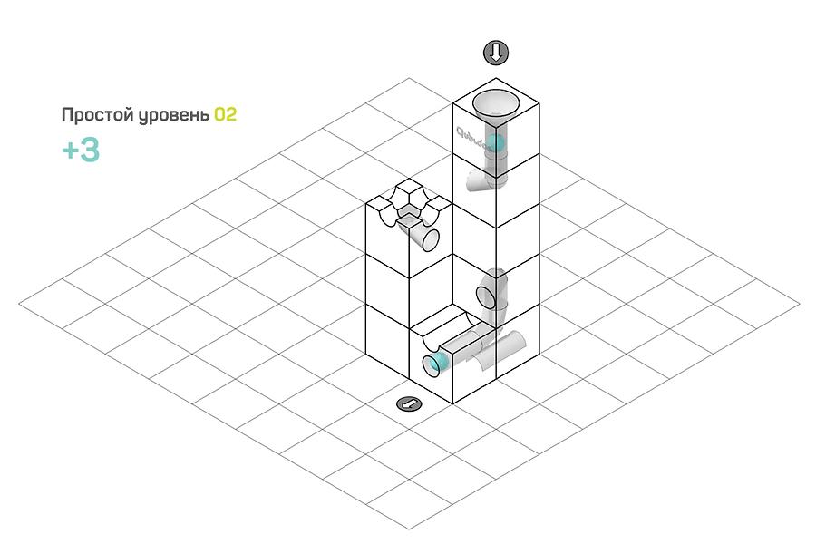 Задача 2 простого уровня сложности Qubidoo