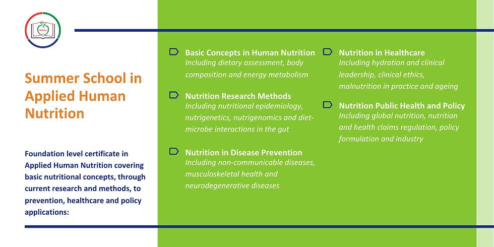 6th NNEdPro Summer School in Applied Human Nutrition