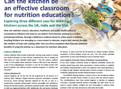 Can the kitchen be an effective classroom for nutrition education? | CN article, September 2018