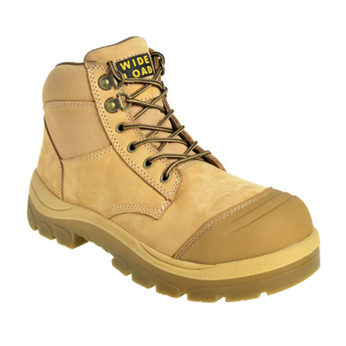 690WZ - 6INCH WHEAT STEEL TOE ZIP / LACE UP BOOT