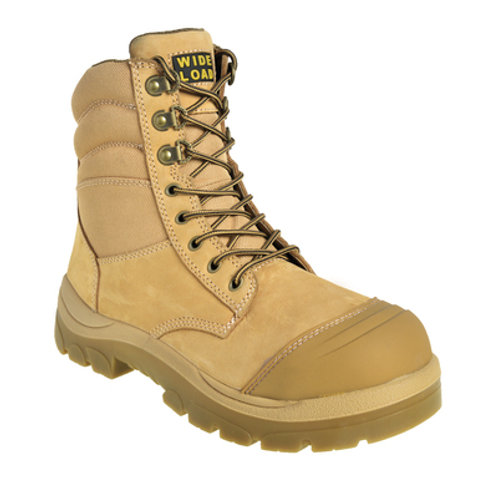 890WZ - 8INCH WHEAT STEEL TOE ZIP / LACE UP BOOT