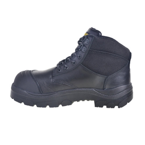 690BL - 6INCH BLACK STEEL TOE LACE BOOT
