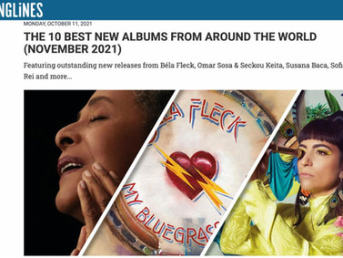 """UMBRAL part of Songline's 10 Best New Albums and """"Un Mismo Cielo"""" part of their compilation CD."""