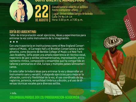 Taller de Interpretación Vocal en Bogotá, Festival Colombia al Parque