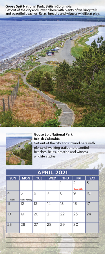 5-British Columbia -calendar-national Pa